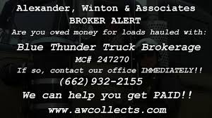 Broker Alert - Blue Thunder Truck Brokerage - YouTube Freight Broker Services What Is A Bond Breakdown Of The Costs And Process 3pls Report Volumes Better In 2q But Margins Compression Selecting Jimenez Logistics Mlg Truck Brokerage Chayavanessens Blog Uber Has Quietly Launched Its Own For Trucking Marketplace Handson Traing Movers School Llc Amazon Begins To Act As Its Own Transport Topics Collecting Owed Money From Bad Brokers Easier Than You How Choose Right Jr Hall Canada Insurance Commercial Transportation Trucking Post Loads Find Trucks Delhi Bhiwandi Raipur With Gst