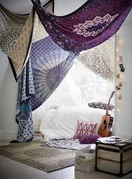 boho schlafzimmer mit tüchern dekorieren einfaches
