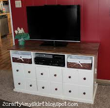Wood Apothecary Cabinet Plans by 2 Crafty 4 My Skirt Apothecary Media Console With Storage Doors
