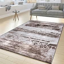 moderner teppich vintage design braun