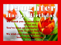 Birthday Wishes for Daughter 365greetings
