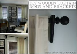 Levolor Curtain Rod Brackets by Make Your Own Wooden Ball Curtain Rod Set With Brackets Diy