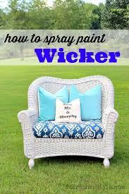 How to Spray Paint Wicker