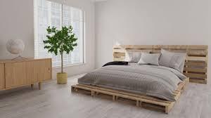 diy schlafzimmer ein bett aus paletten selber bauen