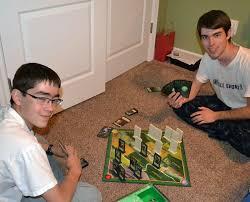 Boys Play Board Games