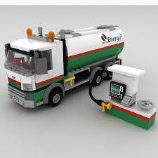 100 Lego Tanker Truck Oil 3D Model 19 Max Obj 3ds Fbx Free3D