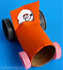 Toilet Paper Roll Car Craft For Kids