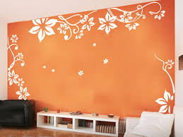 Beautiful Eco Friendly Vinyl Wall Stickers Flower On White F Paint Bed Room Awesome Design Ideas