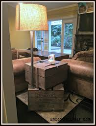 end table stacked crates with storage and lamp uncookie cutter