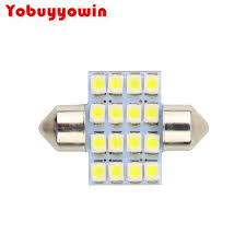 4x white 31mm 6 smd led 3022 de3022 3175 de3175 festoon lights