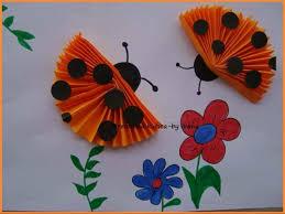 Folded Paper Ladybug Crafts