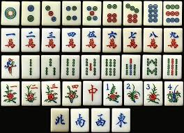 Royalty Free Chinese Mahjong Tiles and Stock