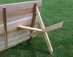 cross leg x leg picnic table and benches in golden oak making or