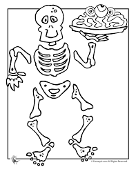 Skeleton Halloween Coloring Page