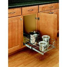 Lowes Canada Cabinet Refacing by Rev A Shelf 1 Tier Metal Pull Out Cabinet Basket Lowe U0027s Canada