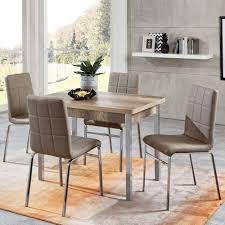 esszimmer möbel set mit ausziehtisch sisela 4 stühlen 5 teilig