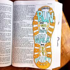 Bible Journaling Verse Art Print Great For Faith Journals Journal Run Walk Shoe Faint Not Isaiah 4031