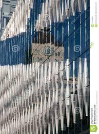 100 Clocktower Apartment Brooklyn New York City USA JUL 10 2018 Reflection Of The Clock