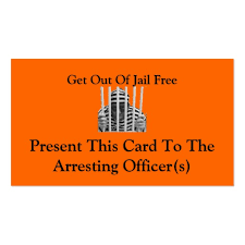 Get Out Of Jail Free Cards Business Card
