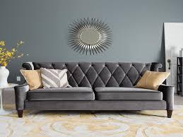 living room sofa best of armen living barrister gray velvet sofa