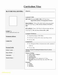 Resume Format Mechanical Engineer Fresher Best Of For