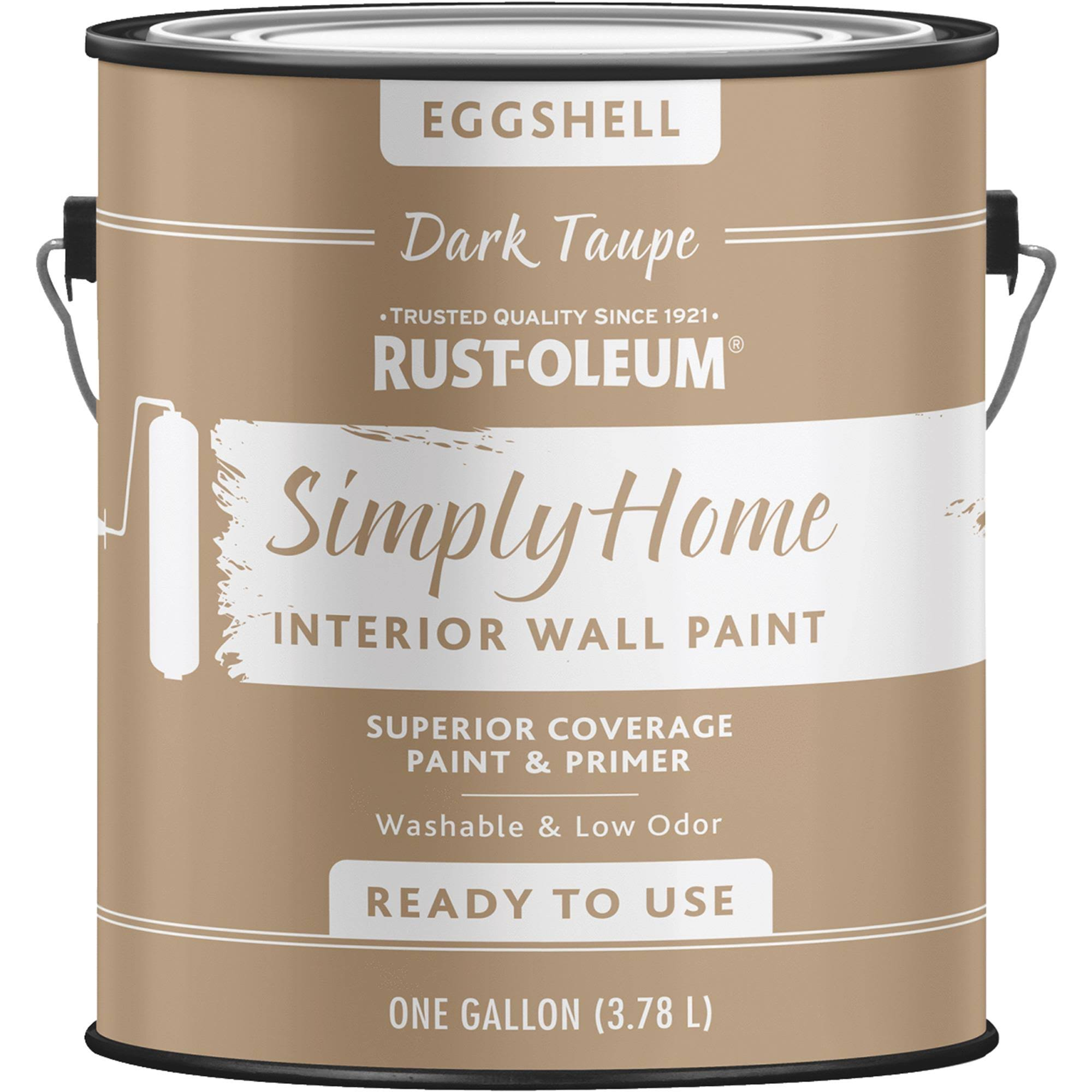 Rust Oleum Simply Home Interior Wall Paint - Eggshell Smoked Navy, 1gal