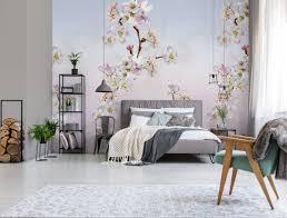 vlies foto tapete kirschblüten blau weiß rosa floral blumen 200x280cm