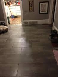 Stainmaster Vinyl Tile Castaway by Stainmaster 12 In X 24 In Groutable Harbor Slate Brown Peel And