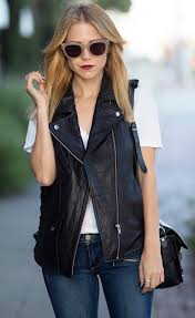 5 pretty vests to wear this summer leather layering and clothes