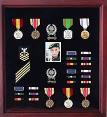 Photo And Medal Display Case Military Frame With