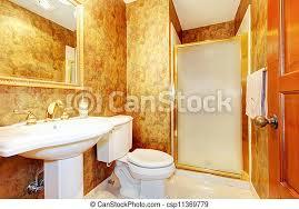 antikes goldenes badezimmer toilette sink weißes