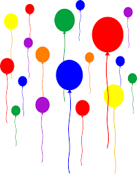 Simple Colorful Birthday Balloons