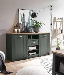 sideboard cambridge 152cm grün wotan eiche kommode wohnzimmer modern