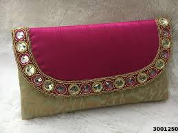 designer stone work with bold colors clutch bag designer stone