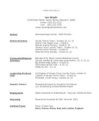 Cover Resume Letter Examples Of Teen Resumes Format Samples Teenage Sample