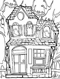 Printable Haunted House Coloring Pages For Kids Cool2bkids Throughout Page