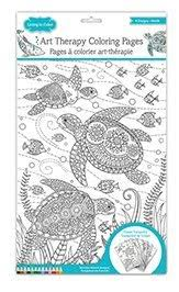 Art Therapy Coloring Book Under The Sea And Ocean Tranquility Pages For Adults Living In Color Bundles