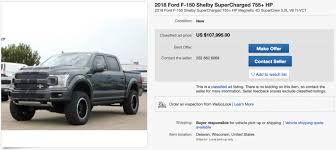 100 Ebay Trucks For Sale Used 755 HP D F150 Shelby Super Snake Currently On EBay