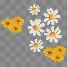 Wildflower Png Vector Element Flowers Cartoon PNG And