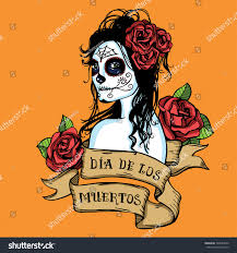 Easy Sugar Skull Day Of by Hand Drawn Day Dead Mexican Sugar Stock Vector 320984420