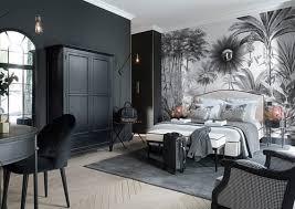 vliestapete dschungel motiv schwarz und weiß 300x350 maisons du monde
