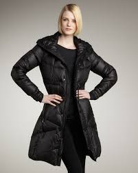 rlx ralph lauren long puffer jacket in black lyst