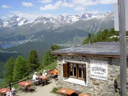 100 Muottas Muragl The Engadine Panoramic Mountains Alp Languard
