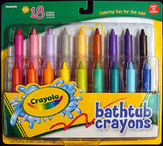 amazon com crayola bathtub crayons 18 vibrant colors toys games