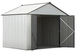 arrow galvanized steel storage shed 10x8 arrow ezee steel storage shed 10 x 8 ft galvanized high