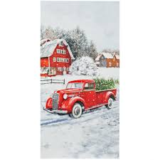 Waterproof Vintage Truck Christmas Panel (12