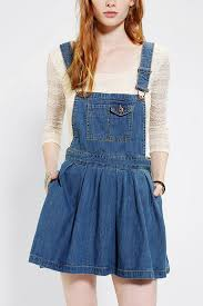 urban outfitters coincidence u0026 chance pleated denim overall skirt
