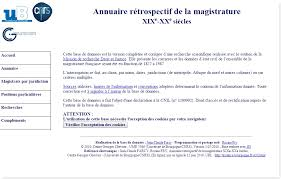 magistrats du si e et du parquet les bases de données oubliées l annuaire de la magistrature geneanet