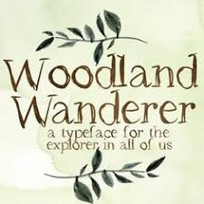 Woodland Wanderer Font Rustic Typeface Shabby Chic Hand Drawn