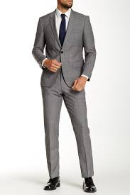 hugo plaid suit hugo genius gray plaid wool notch lapel suit where to